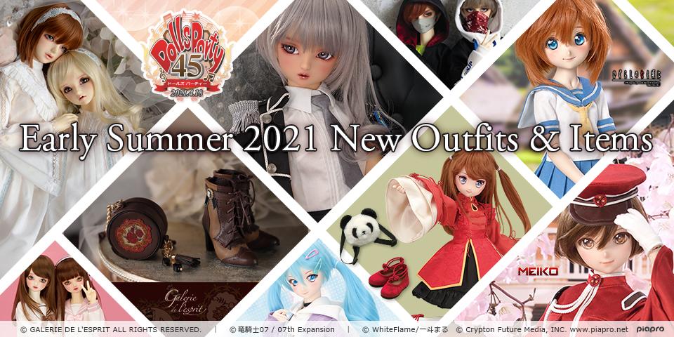 2021年・初夏の新作ドレス&アイテム